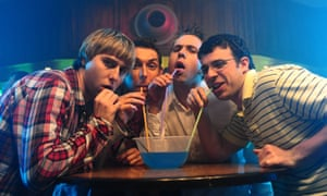 The media is full of portayals of men as awkward and lacking in social grace, as in The Inbetweeners.