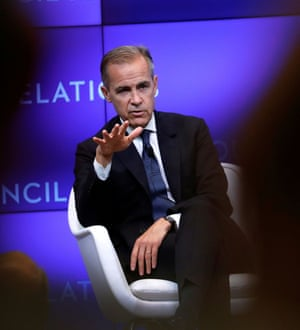 Mark Carney, Governor of the Bank of England (BOE).