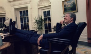 Jimmy Carter in a lighter moment in the Oval Office, in 1978.