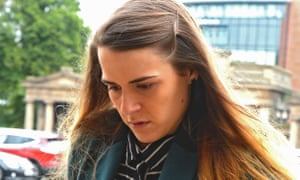 Gayle Newland arriving at Chester crown court during her trial in September 2015.