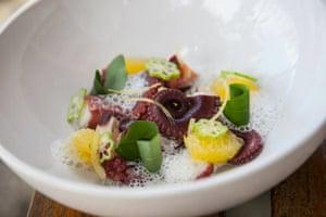 Prepared octopus dish