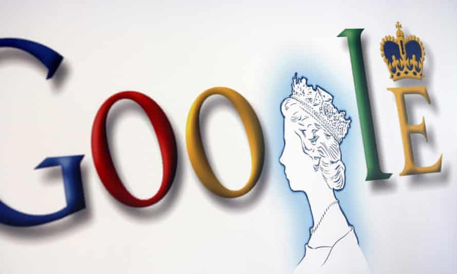 Google poster featuring the Queen