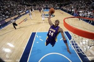 A huge dunk against the Dallas Mavericks in 2006.
