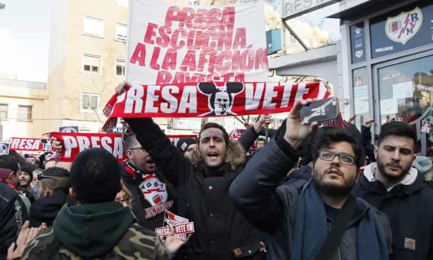 Rayo Vallecano fans staged a protest against Roman Zozulya, whose loan at the club was cut short but who has denied he harbours right-wing views