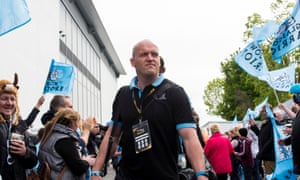 Gregor Townsend arrives for the 2014-15 Pro12 final in Belfast