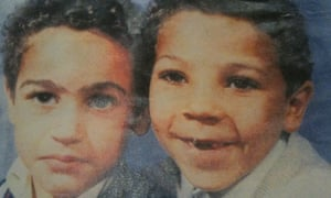 Anthony Ekundayo Lennon (right) and his brother, when they lived in west London.