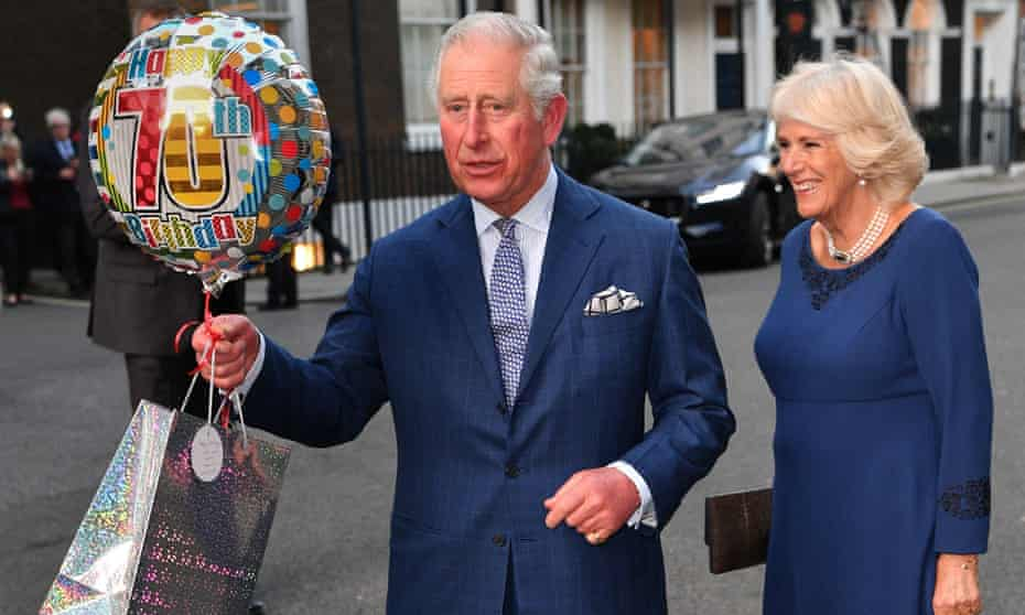 Prince Charles and the Duchess of Cornwall on his birthday.