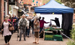 Shoppers in the Maltings shopping area