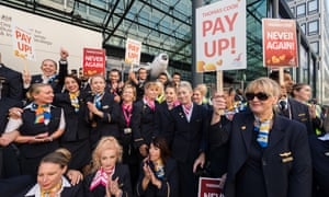 Thomas Cook workers in October calling on the government to ensure those affected by the collapse receive their unpaid wages.