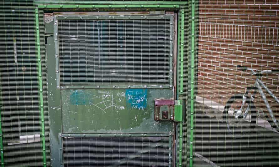 A gate at a secure unit for children