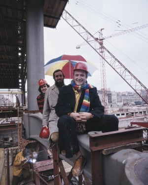 Richard Rodgers Renzo Piano during the building of the Pompidou Centre, 1974