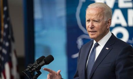 Joe Biden speaks about the coronavirus response in Washington DC on Tuesday.