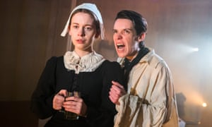 Beautifully persuasive ... Sorcha Groundsell and Caoilfhionn Dunne in The Crucible.