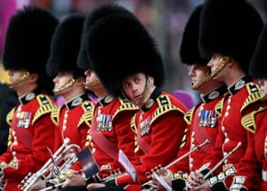 London, England The band of the Scots Guards during the London 2017 IAAF World Championships