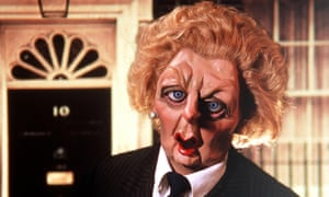 The puppet of Margaret Thatcher in the original incarnation of Spitting Image.