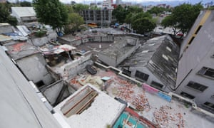 View of the rooftop at Abraham Gonzales 31, where Modotti moved after Weston left Mexico. Residents used to call the dilapidated building the 'Tower of Pisa'.