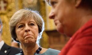 Theresa May with Angela Merkel at the Malta Informal Summit in February 2017.