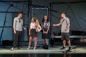 Josh Barrow, Eve Austin, Tiger Cohen-Towell and Kieran Hardcastle in Lit.