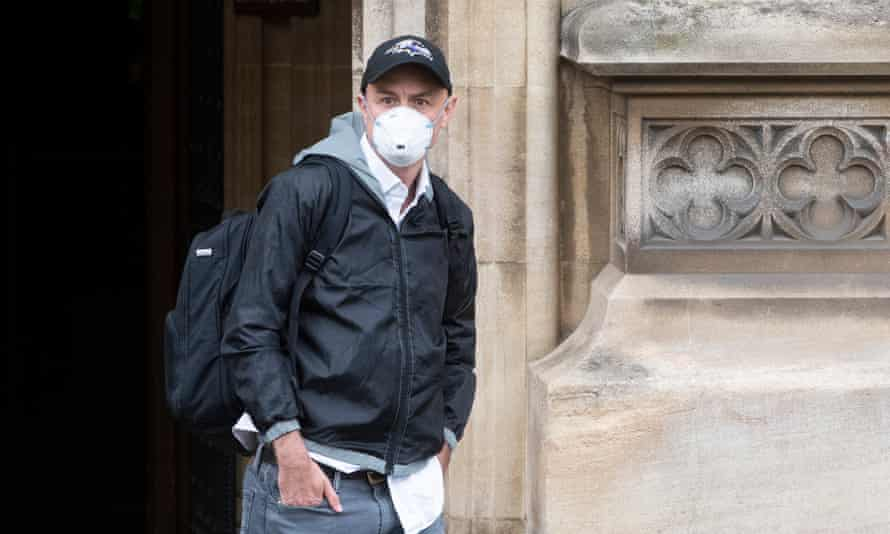 Dominic Cummings leaves the houses of parliament in London after giving evidence on the government's handling of the Covid-19 crisis.