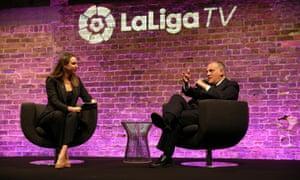 Javier Tebas La Liga TV Launch