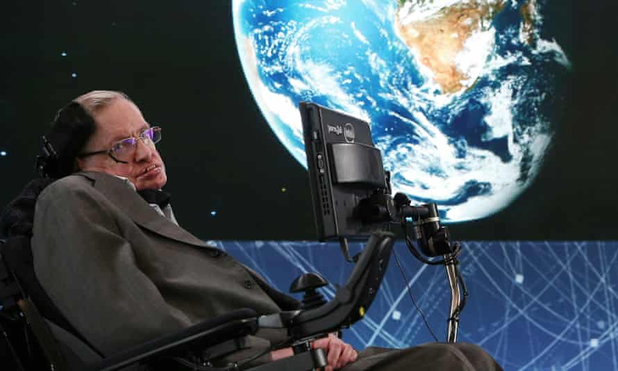 """Professor Stephen Hawking attends the New Space Exploration Initiative """"Breakthrough Starshot"""" Announcement at One World Observatory on April 12, 2016 in New York City."""