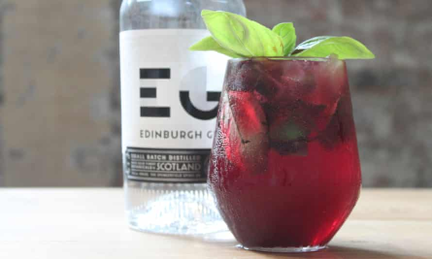 A Basil Bramble Sling from Edinburgh Gin Distillery