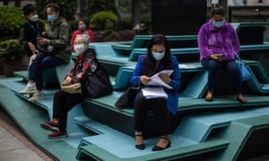 People wearing face masks in Hong Kong