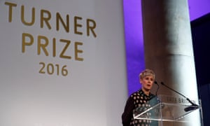 Helen Marten makes a speech after being announced as the winner of the Turner prize