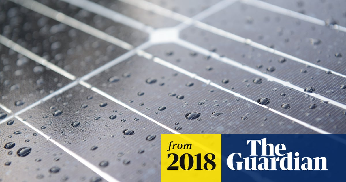 Rain or shine: new solar cell captures energy from raindrops
