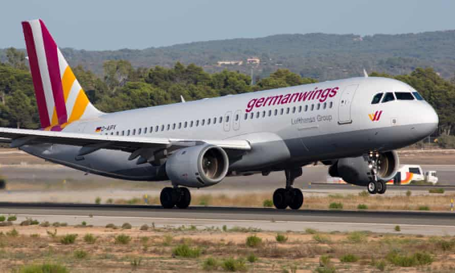 Airbus A320 flown by the Germanwings airline.