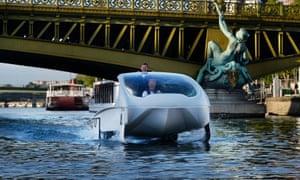 A SeaBubbles prototype on the Seine in Paris.