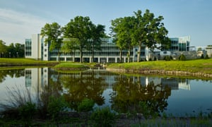 The office campus includes over a mile of walking trails for employees.