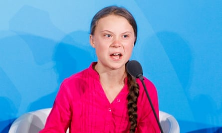 Greta Thunberg addresses world leaders at the start of the 2019 Climate Action Summit.