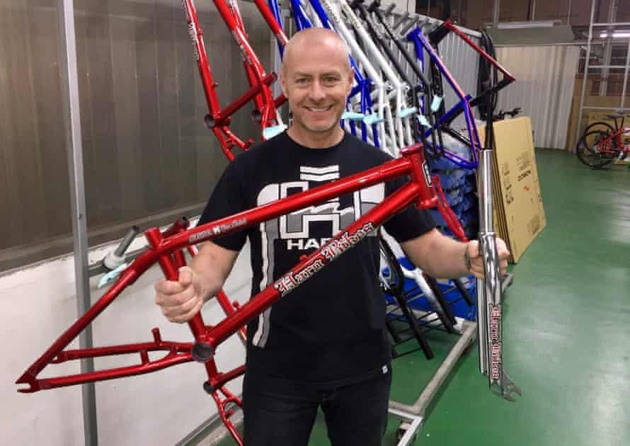 John Buultjens in his job as global brand manager for Haro Bikes.