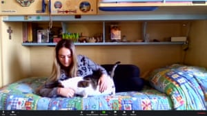 Michela has been reading a lot and kept good care of her pet.