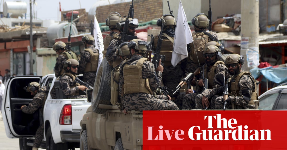Biden to speak on Afghanistan as aide says US 'shifted from military to diplomatic mission' – live