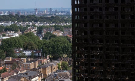 Remains of Grenfell Tower