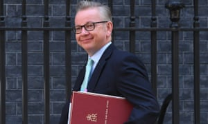 Michael Gove arrives for a cabinet meeting