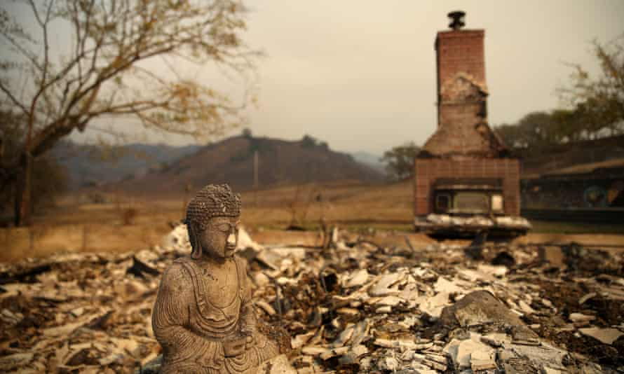 A destroyed home in Calistoga, in California's Napa Valley.