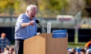 Bernie Sanders campaigns in Colorado.
