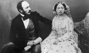 Victoria with her husband Albert photographed in 1854. She went on to be photographed up to 400 times ensuring her image, though austere, was widely seen.
