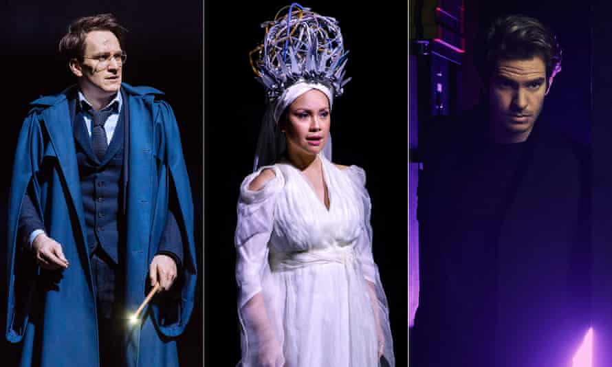 Jamie Parker in Harry Potter and the Cursed Child, Lea Salonga in Once on This Island and Andrew Garfield in Angels in America.
