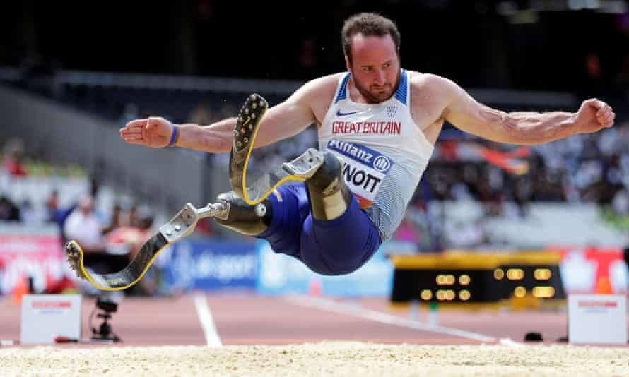 Luke Sinnott lost both his legs in an explosion in Afghanistan, but fulfilled his ambition of representing Great Britain by competing in the T42 long jump.