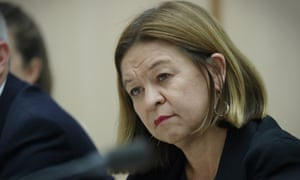 Michelle Guthrie at Senate estimates on Tuesday. The ABC has lost almost 1,000 jobs since 2014, estimates was told.