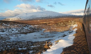 Break to the frontier: the Caledonian sleeper travels by Rannoch Moor.
