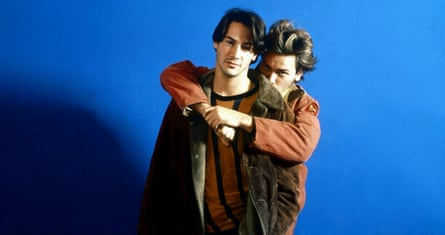 Keanu Reeves with River Phoenix in My Own Private Idaho