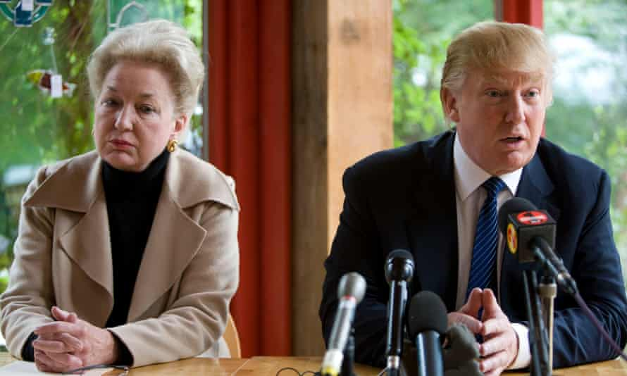 Donald Trump with his sister, Maryanne Trump Barry, in 2008.