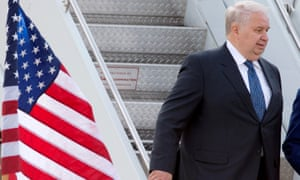 Russian ambassador Sergey Kislyak, seen at Dulles International Airport.