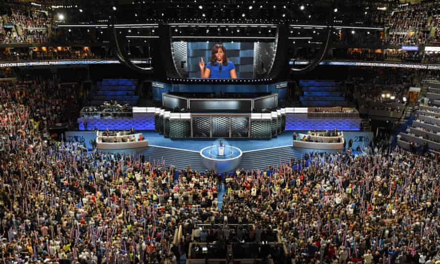 In her address to the convention, Michelle Obama tackled race, politics and parenting head on.