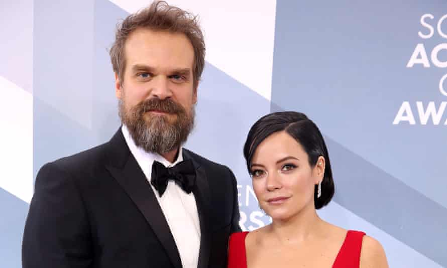 Superpower couple ... Harbor with his wife Lily Allen.